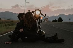 motorcycle photography Lets Escape; Moody Motorcycle Couples Shoot in Boulder, Colorado EMILY L Photography Motorcycle Photo Shoot, Motorcycle Photography, Sidecar Motorcycle, Motorcycle Cake, Motorcycle Shop, Motorcycle Outfit, Motorcycle Couple Pictures, Biker Couple, Couple In Car