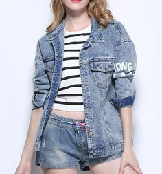 d0a081fdad4 Find More Basic Jackets Information about JOYINPARTY 2017 Autumn Shark  Printing Denim Jackets For Women Fashion