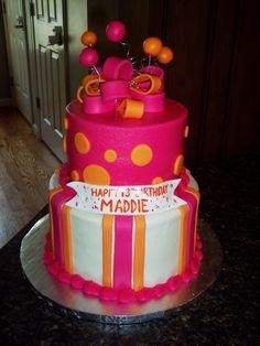 pink & orange cake