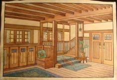 Stickley - Design Inspiration = Linear Patterns, Natural Muted Colors, Open Uncluttered Spaces