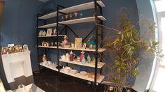 стелаж remeslo loft металл лиственница флористический  made by hands