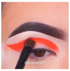 Makeup Eye Looks, Eye Makeup Steps, Eye Makeup Art, Beautiful Eye Makeup, Crazy Makeup, Blue Eye Makeup, Eyeshadow Makeup, Orange Makeup, Makeup Eyes
