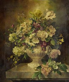View Still life of mixed flowers on a stone ledge by Harold Clayton on artnet. Browse upcoming and past auction lots by Harold Clayton. Victorian Flowers, Vintage Flowers, Art Floral, Flower Of Life, Flower Art, Edward Moran, Antique Wallpaper, Fruit Painting, China Painting