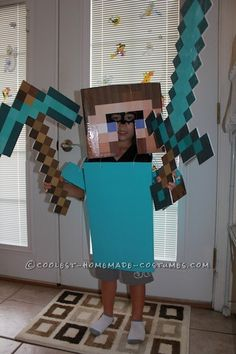 Steve from Minecraft Halloween Costume... Coolest Halloween Costume Contest