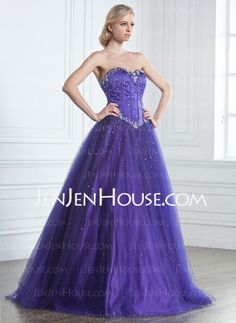 Quinceanera Dresses - $210.99 - Ball-Gown Sweetheart Floor-Length Satin Tulle Quinceanera Dress With Beading (021020889) http://jenjenhouse.com/Ball-Gown-Sweetheart-Floor-Length-Satin-Tulle-Quinceanera-Dress-With-Beading-021020889-g20889