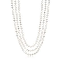 Ziegfeld Collection necklace of freshwater cultured pearls.