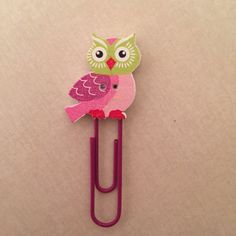 Owl paperclip bookmark swingclip for EC by OccasionalObsessions