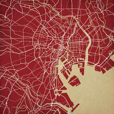 Tokyo, Japan | City Prints Map Art