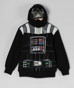 Another great find on #zulily! Star Wars Black Darth Vader Zip-Up Hoodie - Boys by Star Wars #zulilyfinds