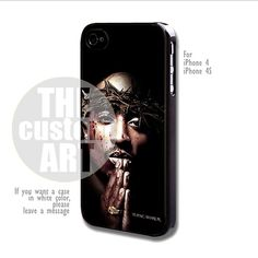Tupac Shakur - For iPhone 4 / 4s | TheCustomArt - Accessories on ArtFire