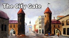 How to paint the City Gate in Watercolor - Online Art Lessons
