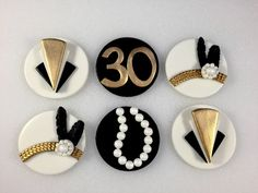 Gatsby Inspired Topper Fondant Toppers by KedulceSugarDesigns