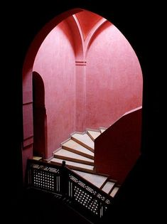 """""""Marrakesh Pink"""" - Royal Theatre in The Rose City/The Pink City/The Red City; Names for the Jewel of Morocco ~ Photography by Edwin de Johgh Islamic Architecture, Architecture Details, Building Architecture, Light Architecture, Style Marocain, The Dark Side, Rose City, Stair Steps, Stairway To Heaven"""