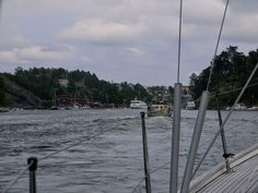 A narrow route towards #Saltsjöbaden #sailing