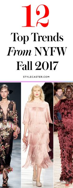 The 12 Biggest Trends from NYFW Fall 2017 | New York Fashion Week F/W 17 Runway Coverage | @Stylecaster