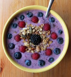 Berry Refreshing Smoothie Bowl: If you're in a smoothie rut, change it up with this smoothie bowl packed with vitamin C and calcium. Just eliminate the optional Greek yogurt for a dairy-free and vegan breakfast.