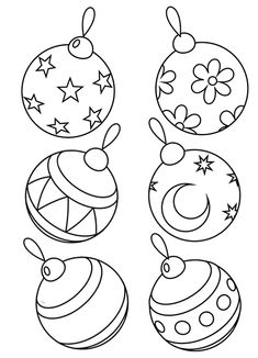 Christmas balls coloring pages Christmas Tree Coloring Page, Christmas Coloring Sheets, Printable Christmas Coloring Pages, Christmas Doodles, Christmas Card Crafts, Preschool Christmas, Christmas Drawing, Merry Christmas Card, Christmas Mood