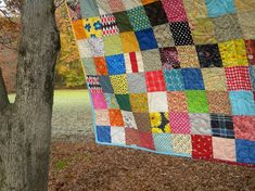 Funky Random Patchwork Quiltpicnic/double by secondsanctuary