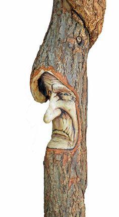 Wood Spirit Walking Stick | Cane, Walking Stick, Wood Spirit Carving by Josh Carte