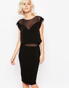 Gestuz Esme Double Layer Dress with Mesh Insert