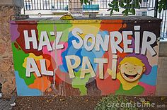 Street Art Happy Message - Download From Over 30 Million High Quality Stock Photos, Images, Vectors. Sign up for FREE today. Image: 50228163