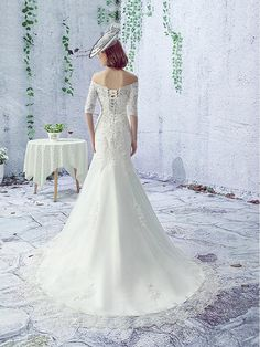 Ericdress High Quality Appliques Mermaid Wedding Dress 2