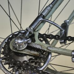 Campagnolo Cambio Paris Roubaix lever-actuated rear derailleur on a Bianchi Check out the Sprocket bike info app on Android sprocket. Paris Roubaix, Garage Bike, Bike Components, Instagram Blog, Motorcycle Design, Ocean City, Gears, 1950s, Android