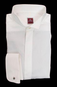 ETON White Extrafine Cotton Wing Collar Tuxedo Dress Shirt