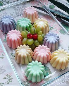 Pudding Desserts, Pudding Recipes, Gelatin Recipes, Mousse, Cute Desserts, Indonesian Food, Mini Cupcakes, Puddings, Cake Cookies