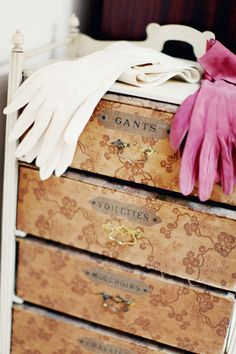 Every lady needs a little something to organize her veils and gloves