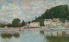 Horses being Watered at Marly-le-Roi, 1875. Alfred Sisley