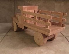 Items similar to Wooden Stake Bed Truck Toy on Etsy Awesome Woodworking Ideas, Woodworking For Kids, Woodworking Joints, Woodworking Workbench, Woodworking Crafts, Woodworking Techniques, Woodworking Furniture, Woodworking Organization, Unique Woodworking