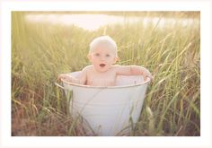 baby in tub 1 year old pictures Bellini Portraits