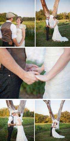 simple outdoor wedding under a tree | wanderlove wedding inspiration shoot | rose wheat photography | via Oh Lovely Day