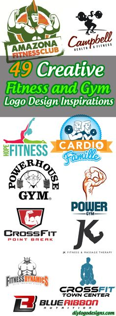 49 Creative Fitness and Gym Logo Design Inspirations