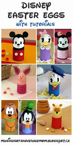 Disney Easter Egg Decorating Round-up - with tutorials.