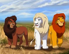 Here is a commision for of her character sihle walking with simba and kovu. Sihle, Kovu and Simba Kiara Lion King, Lion King 1, Lion King Fan Art, Lion King Movie, Disney Lion King, Art Roi Lion, Lion Art, Disney Kunst, Disney Fan Art