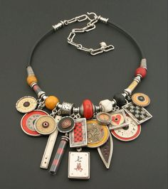mix media necklace