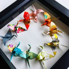 Let's have the most rainbow 🌈 love ❤️ It's all folded from Handmade Japanese chiyogami papers ☺️ Origami Gifts, Diy Origami, Origami Ideas, Origami Butterfly, Butterfly Wall Art, Paper Anniversary, Wedding Anniversary Gifts, Origami Wall Art, Japanese Wall Art