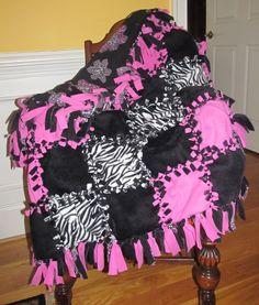 no sew fleece blanket with left over fleece pcs