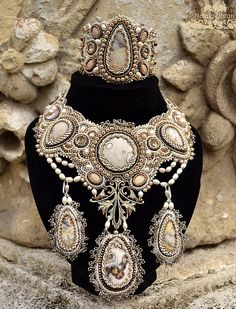 Beautiful embroidered jewelry by Nataly Uhrin
