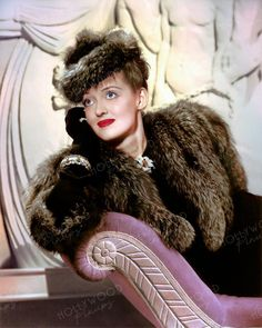 Bette Davis wearing an Orry-Kelly design for the film DARK VICTORY Color enhanced image by Hollywood Pinups from the b&w original. Golden Age Of Hollywood, Vintage Hollywood, Orry Kelly, Betty Davis, Rita Hayworth, Elizabeth Taylor, Celebs, Celebrities, Victorious