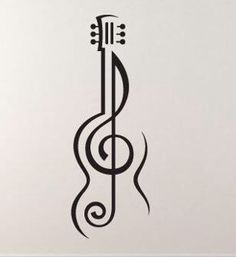Music tattoo treble cleff - Music tattoo treble cleff You are in the right place about cat tattoo Here we of - Music Tattoo Designs, Music Tattoos, Body Art Tattoos, Hand Tattoos, Tatoos, Guitar Tattoo Design, Music Drawings, Cool Art Drawings, Pencil Art Drawings
