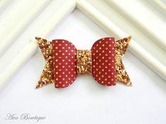 Fall Bow Hair Clip - Baby Hair Bow - Maroon Bow Hair Clip - Glitter Bow Clippie - Baby Bow Hair Clip by AvaBowtiquee on Etsy