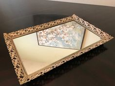 Vintage Mirror Vanity Tray/ Mirror Serving Tray by BazemoreVault on Etsy