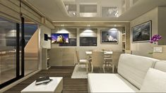 Luxurious houseboat boasts king size beds, a jacuzzi and lounges Houseboat Living, Floating House, Canal Boat, Tiny House Movement, Yacht Design, Pontoon Boat, Pent House, Rustic Design, Boats