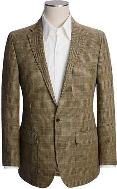 Lands' End Lands' End Tailored Pattern Sport Coat - Trim Fit, Linen (For Men)