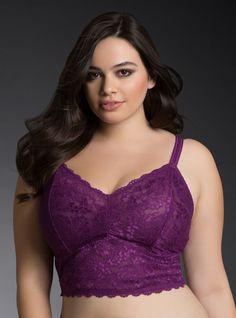 1001467ce9e6ee Plus Size Crop Lace Bralette Lingerie Models