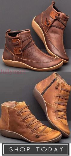 Casual Solid Color Braided Strap Boots Women Shoes for work Casual Boots, Casual Sneakers, Estilo Indie, Fashion Videos, Mode Outfits, Cute Shoes, Ciabatta, Fashion Shoes, Shoe Boots