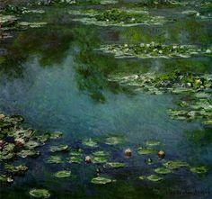 Las 20 pinturas más famosas de todos los tiempos - Lirios de agua (Claudet Monet)